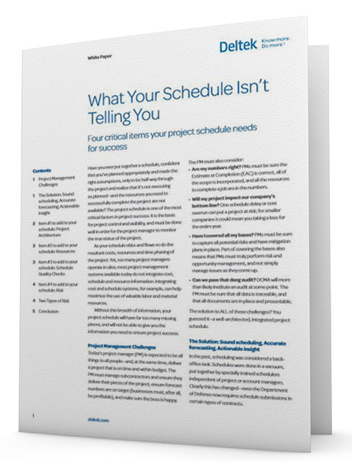 What Your Schedule Isn't Telling You