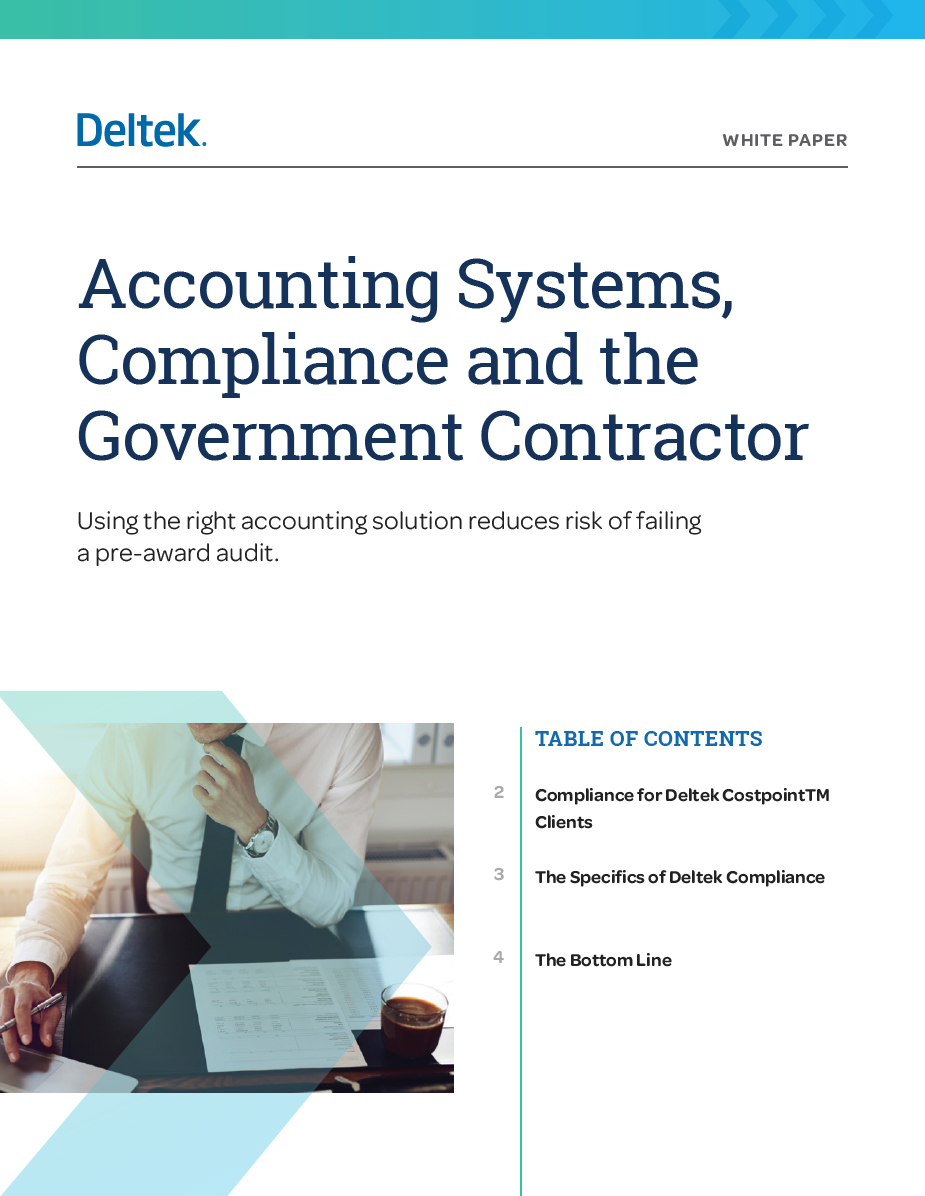 Accounting Systems, Compliance and Government Contractor