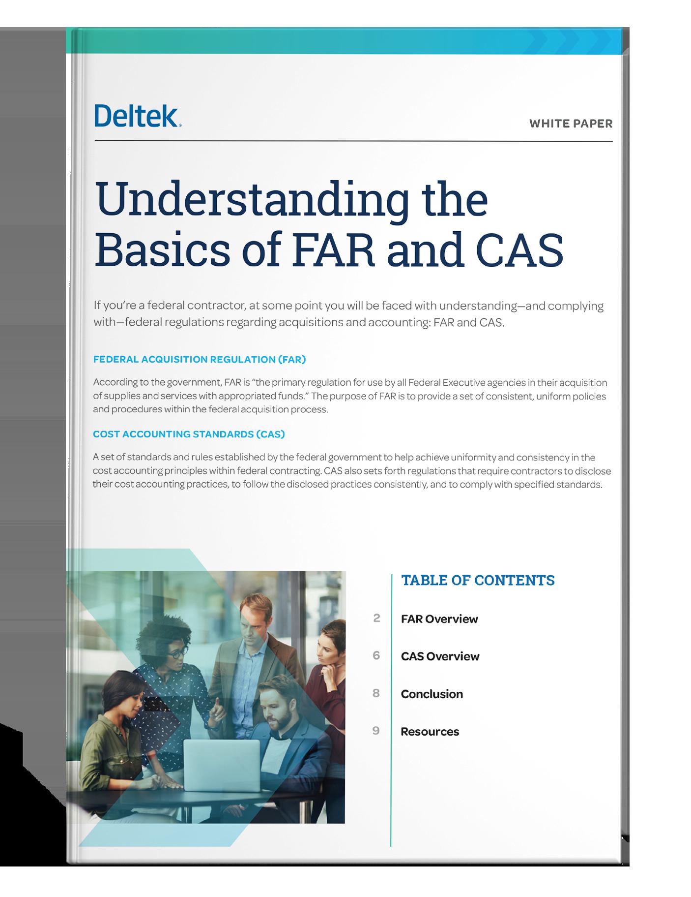 Understanding Basics of FAR and CAS
