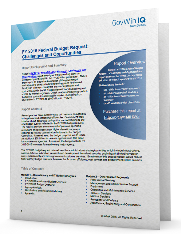 Free Summary: FY 2016 Federal Budget Request: Challenges and Opportunities