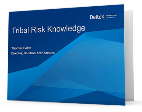 On Demand Webinar: The Value of Tribal Risk Knowledge