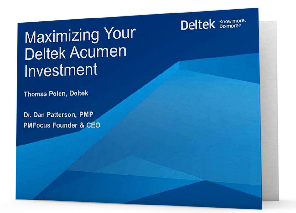 On Demand Webinar: Maximizing Your Deltek Acumen Investment