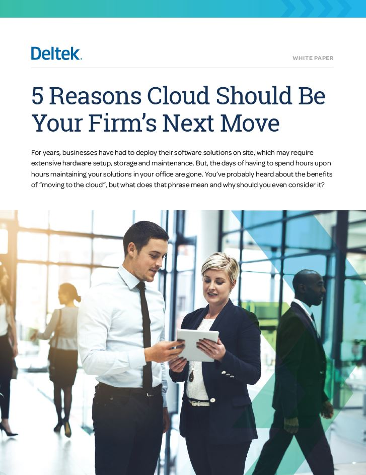 White Paper: 5 Reasons Cloud Should Be Your Firm's Next Move