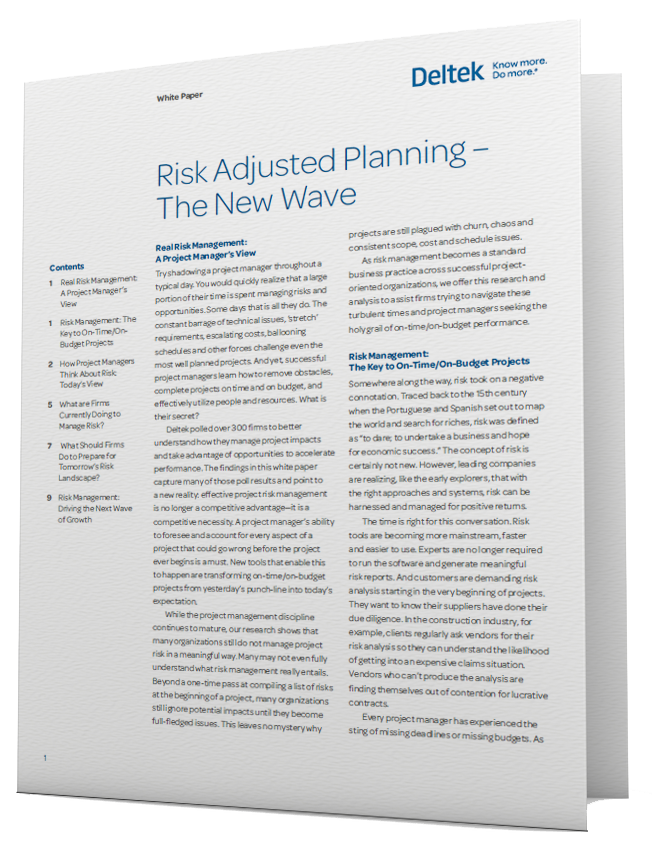 White Paper: Risk Adjusted Planning - The New Wave